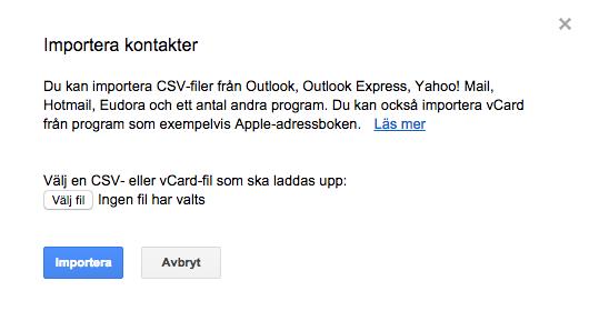 importera kontakter iphone gmail vcard