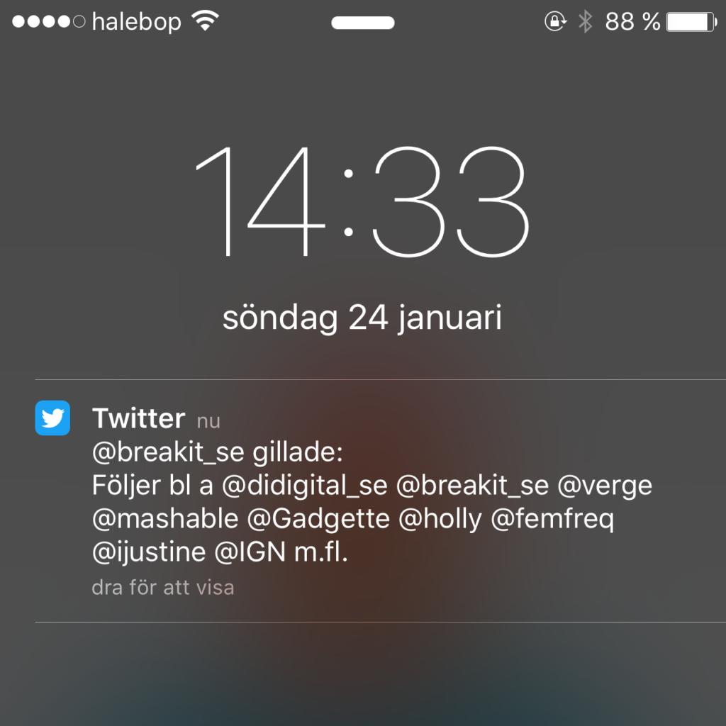 stressad av sociala medier visa notiser låst skärm iphonea