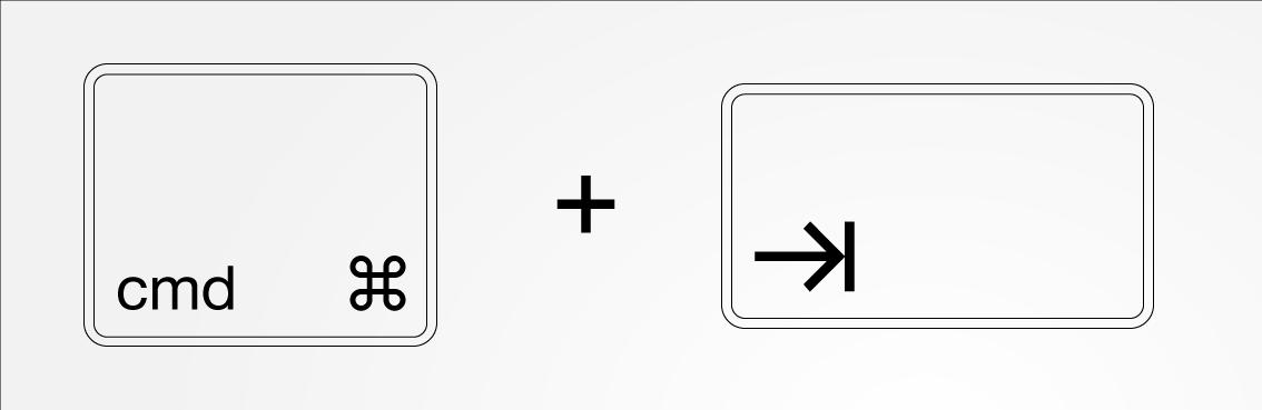 cmd-tab byta mellan två fönster