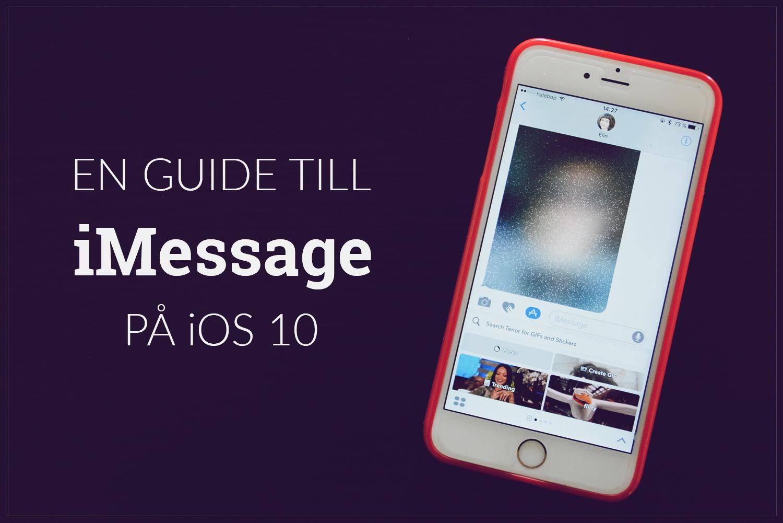 imessage iOS 10 nya funktioner